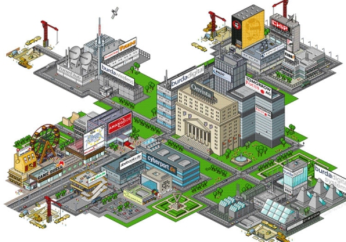 Digital City | Isometric Pixel Illustration |HUBERT BURDA MEDIA
